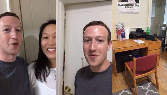 Facebook: Mark Zuckerberg regresó a la habitación donde inició su famosa red social (Mark Zuckerberg)