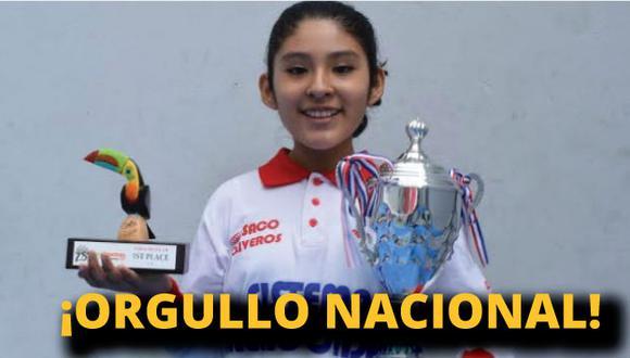 Es la campeona mundial más joven del Perú.