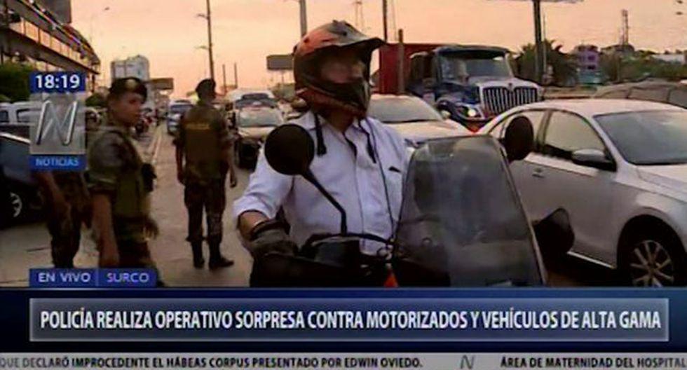 Uno de los puntos donde se efectuó la intervención policial fue la calle Montebello, cerca de la avenida Prolongación Primavera. (Foto: Canal N)