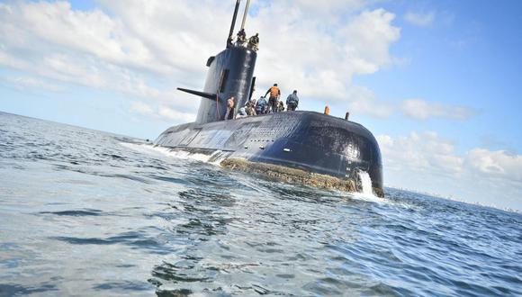 Fotografía sin fecha cedida por la Armada Argentina que muestra el submarino de la Armada desaparecido. (EFE)
