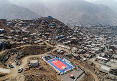 Municipalidad de Lima inaugura losa deportiva para asentamiento humano de Comas
