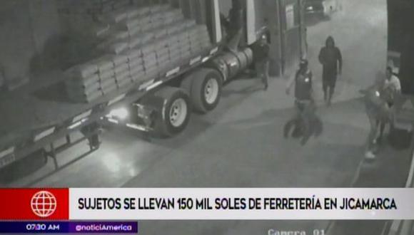 Las imágenes captadas por las cámaras de seguridad del local ya están en poder de la Policía Nacional. (Foto: Captura/América Noticias)