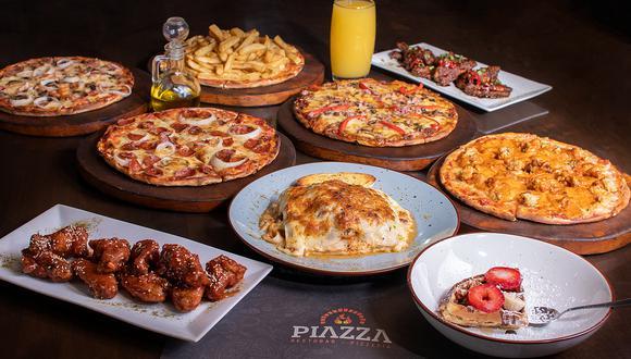 Su barra libre incluye 30 sabores de pizzas a la leña, entre las que destacan la de Rocoto Arequipeño, Lomo Saltado, Caprichosa (full carne), Selvática, así como las clásicas