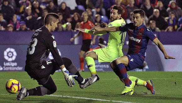 Lionel Messi le ha anotado al Levante en los últimos cuatro partidos disputados en el Camp Nou. (Foto: EFE)