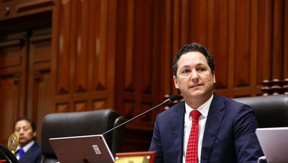 """""""Recién hoy se ha confirmado la sentencia en primera instancia, a partir de ahí nosotros cumplimos nuestro rol para levantarle la inmunidad al parlamentario."""", indicó Salaverry.  (Foto: GEC / Video: Congreso)"""