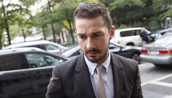 Shia LaBeouf se declaró culpable de alterar el orden público. (Reuters)