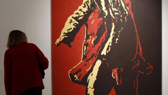 Cuadro se expone en galería. (Reuters)