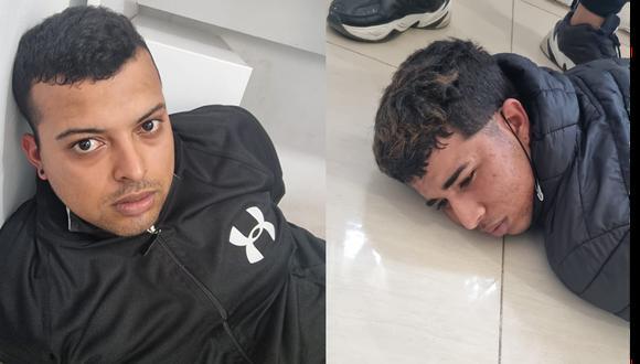 Estos son los delincuentes que en asalto a una casa de apuestas tomaron como rehenes a una madre, su hija de 7 años y a un cliente.(Foto: PNP)