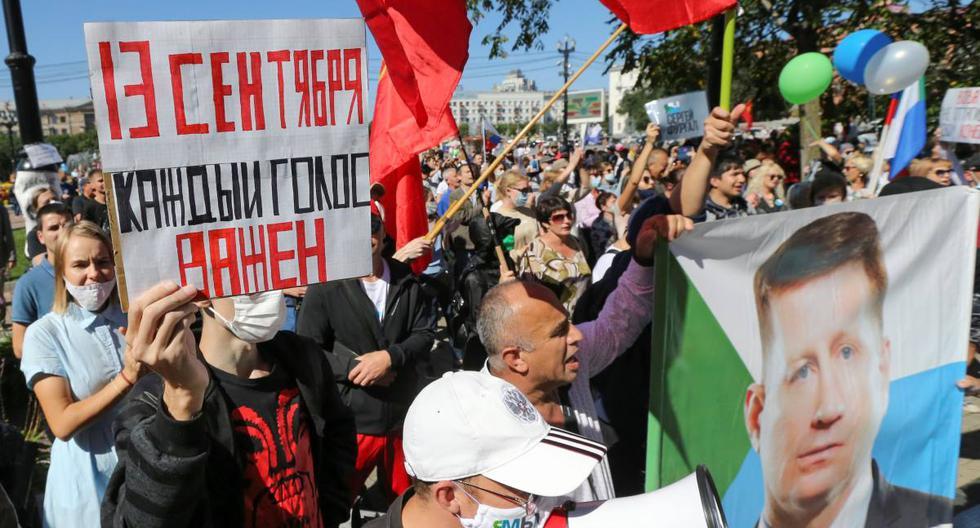 Rusia: Miles protestan en el Lejano Oriente durante elecciones locales [FOTOS]
