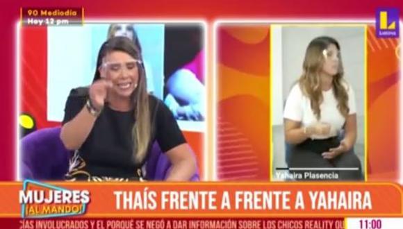 Thais Casalino explica cómo logró entrevistar a Yahaira Plasencia. (Foto: captura de video).