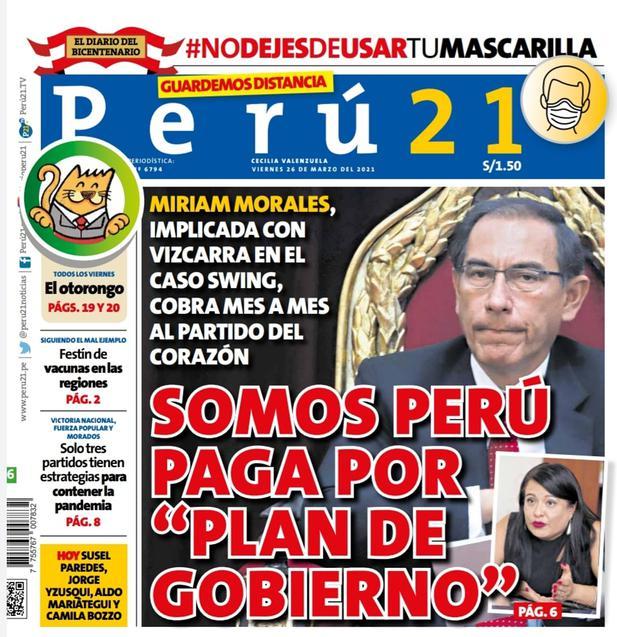 """SOMOS PERÚ PAGA POR """"PLAN DE GOBIERNO"""""""