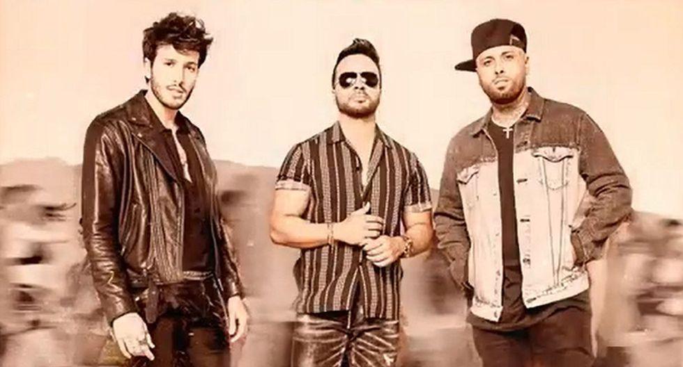 """Sebastián Yatra anuncia el lanzamiento del tema """"Date la vuelta"""" junto a Luis Fonsi y Nicky Jam. (Foto: Captura de video)"""