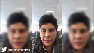 Congreso de la República: Norma Yarrow ofrece disculpas por imprevisto