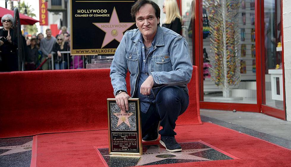 Quentin Tarantino obtuvo su estrella en el Paseo de la Fama de Hollywood. (Reuters)