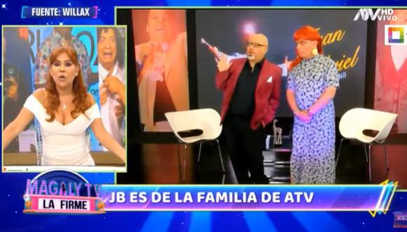 Jorge Benavides a Magaly Medina sobre regreso de su personaje 'Mascaly'.(Foto: captura de video)