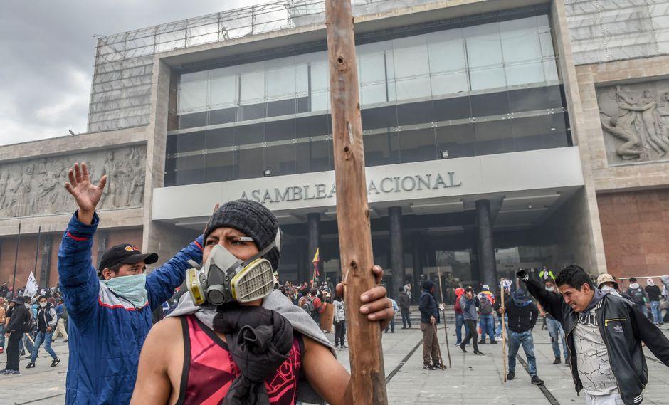 Los dirigentes han solicitado a los manifestantes que mantengan la calma y no provoquen innecesariamente a las fuerzas de seguridad. (Foto: AFP)
