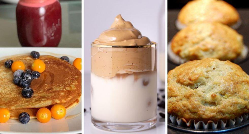 Aprende a preparar unos panqueques con frutos de bosque, dalgona café y muffins de plátanos para sorprender a mamá. (Difusión / Inteci).