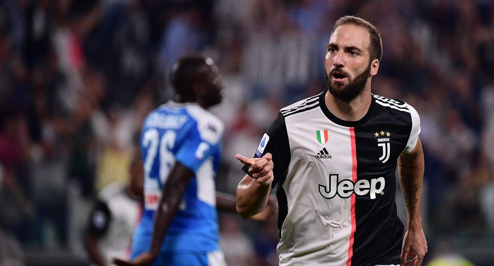 Juventus le ganó 4-3 al Napoli en tiempo de descuento con goles de Higuaín y Cristiano Ronaldo. (Foto: AFP)