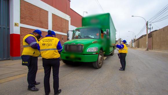 Conductores son sancionados por incumplir el Reglamento de Transporte de Carga; multas llegan a los S/4,300. (Foto: MML)