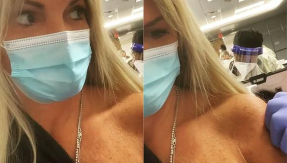 Jessica Newton utilizó sus redes sociales para anunciar que se vacunó contra la COVID-19. (Foto: Captura de video)