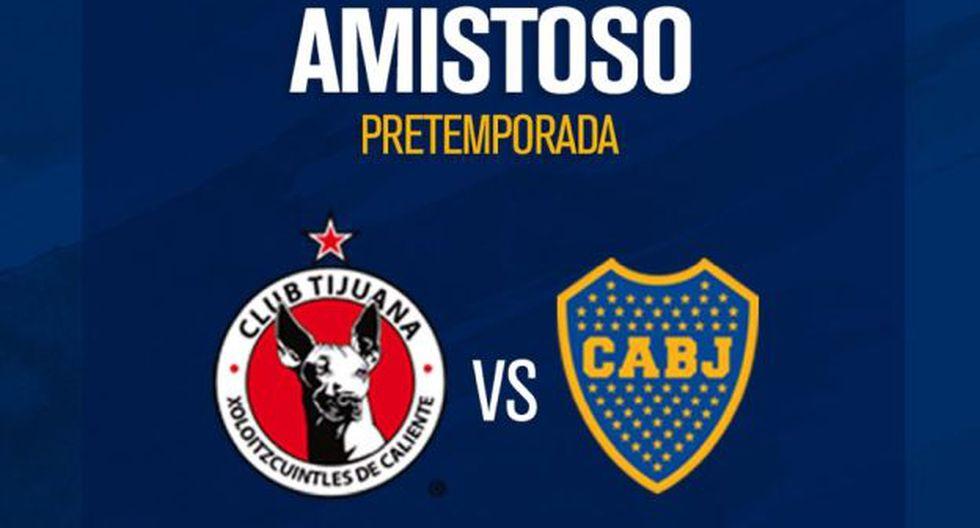 Boca Juniors vs. Tijuana: chocan por amistoso de pretemporada. (Foto: Boca Juniors)