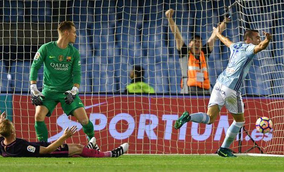 Ter Stegen cometió un 'blooper' que selló la derrota del Barcelona. (Getty Images)