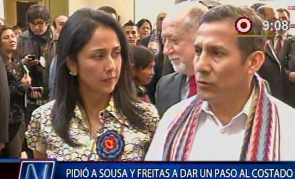 Humala y Heredia estuvieron en el Museo de la Nación. (Canal N)