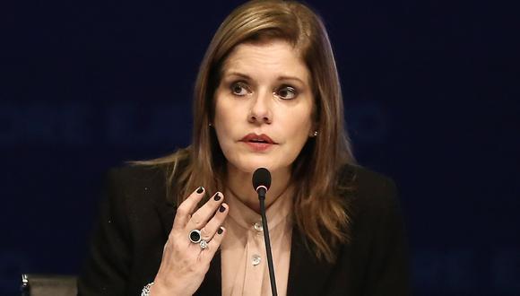 Mercedes Aráoz cuestionó decisiones de la Comisión de Constuitución. (Geraldo Caso)