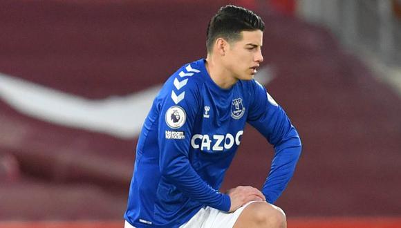 James Rodríguez llegó al Everton esta temporada procedente del Real Madrid. (Foto: Reuters)
