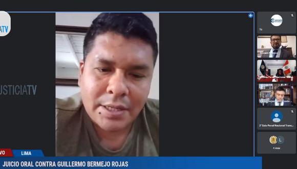 Gonzalo Vereau Moreno fue el testigo presentado por parte de la defensa de Bermejo. (Justicia TV)