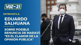 """Eduardo Salhuana sobre la posible renuncia de Iber Maraví:""""Es el clamor de la opinión pública"""""""