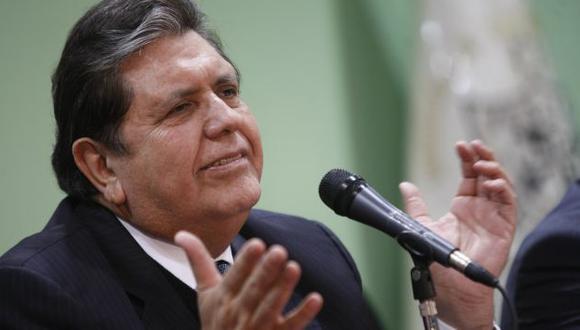 'Megacomisión' recomendó acusar penalmente a Alan García por caso BTR. (David Vexelman)