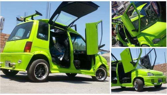 Joven convierte su auto en un 'Tico Lamborghini' para venderlo. (Puerto Noticias)