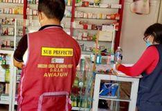 San Martín: Fiscalía encuentra medicinas vencidas y clausura farmacia en Awajún