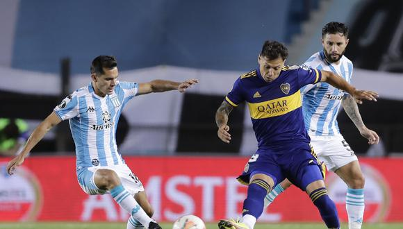 Boca cayó 1-0 ante Racing en el duelo de ida de la llave. (Foto: AFP)