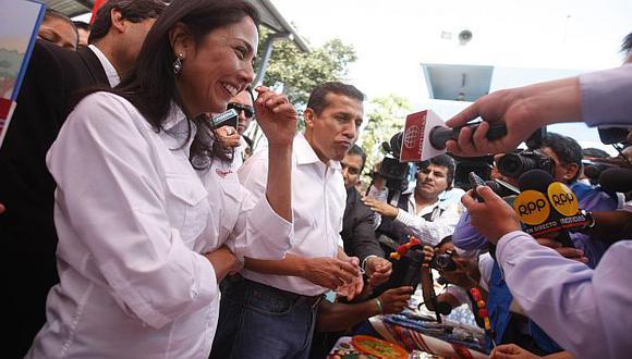 Pareja presidencial. Nadine y Ollanta volvieron a aparecer juntos en público. (Mario Zapata)
