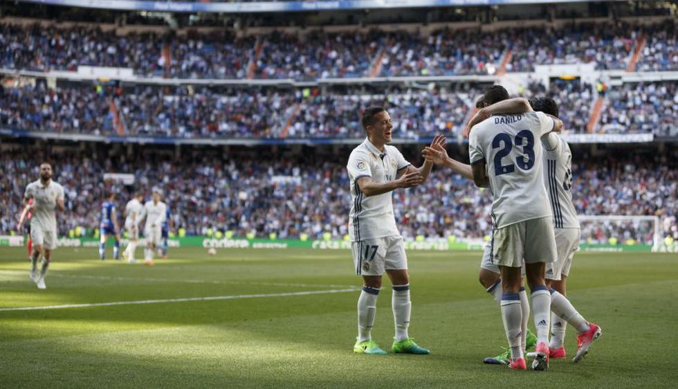 El conjunto madridista se consolida como líder de la Liga Española con 68 puntos. (AP)