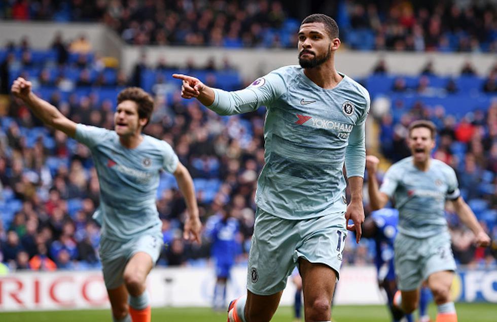 Chelsea volteó el partido y ganó 2-1 al Cardiff City por la Premier League. (Getty)
