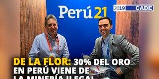 Pablo de la Flor: 30% del oro en Perú viene de la minería ilegal [VIDEO]