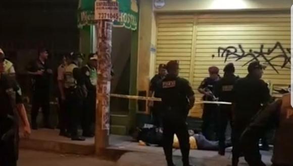 Los agentes policiales tuvieron que abrir fuego para reducir a los ladrones. (PNP)