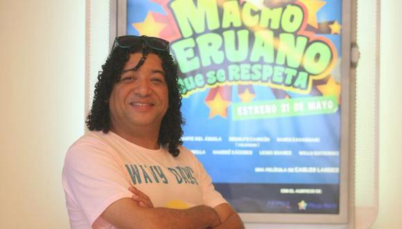 Carlos Vílchez feliz porque 'Macho peruano que se respeta_ tiene más de 180 mil espectadores. (USI)