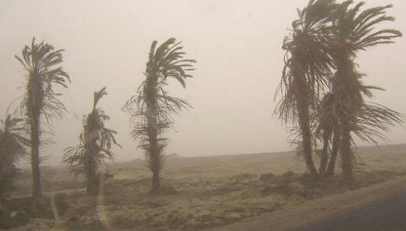 Vientos afectarán cinco regiones. (Difusión)