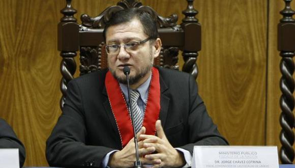 El fiscal Jorge Chávez Cotrina destacó el papel del Ministerio Público en la lucha contra las organizaciones delictivas.