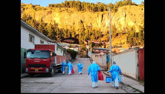 Apurímac: visitan 2490 hogares en el Día del Padre para buscar casos positivos de COVID-19. (Foto: Diresa Apurímac)