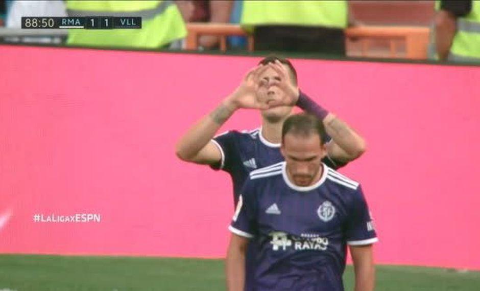 Sergio Guardiola marcó el empate contra el Real Madrid. (Captura y video: LaLiga - ESPN)
