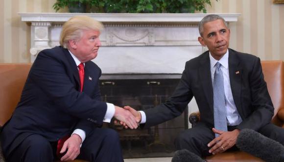Donald Trump y Barack Obama se reunieron luego de la victoria del magnate sobre Hillary Clinton. (AFP)