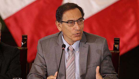 """Presidente Martín Vizcarra resaltó que el desarrollo sostenible del Perú resulta """"inviable"""" si la situación de corrupción persiste. (Foto: GEC)"""