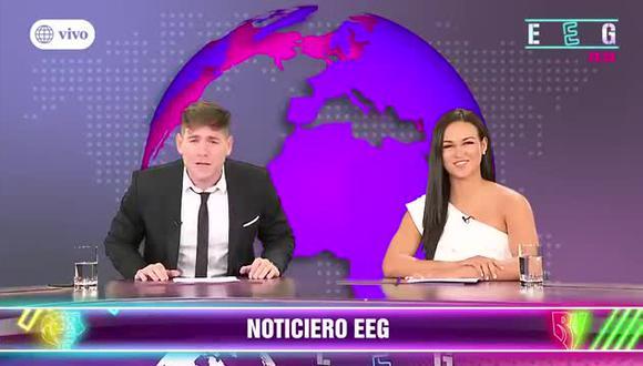 """""""Esto es Guerra"""" estrenó noticiero conducido por Angie Arizaga y Pancho Rodríguez  (Foto: captura)"""