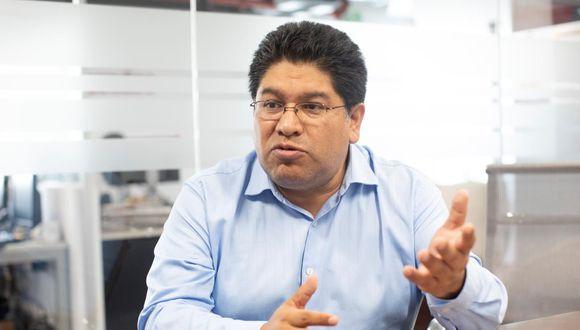 El congresista Rennán Espinoza es vocero de la bancada Somos Perú. (José Rojas/GEC)