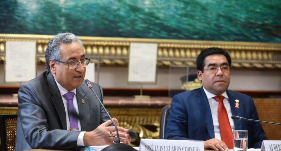 El presidente del Poder Judicial, José Luis Lecaros, acudió al Congreso esta mañana. (Foto: Difusión)